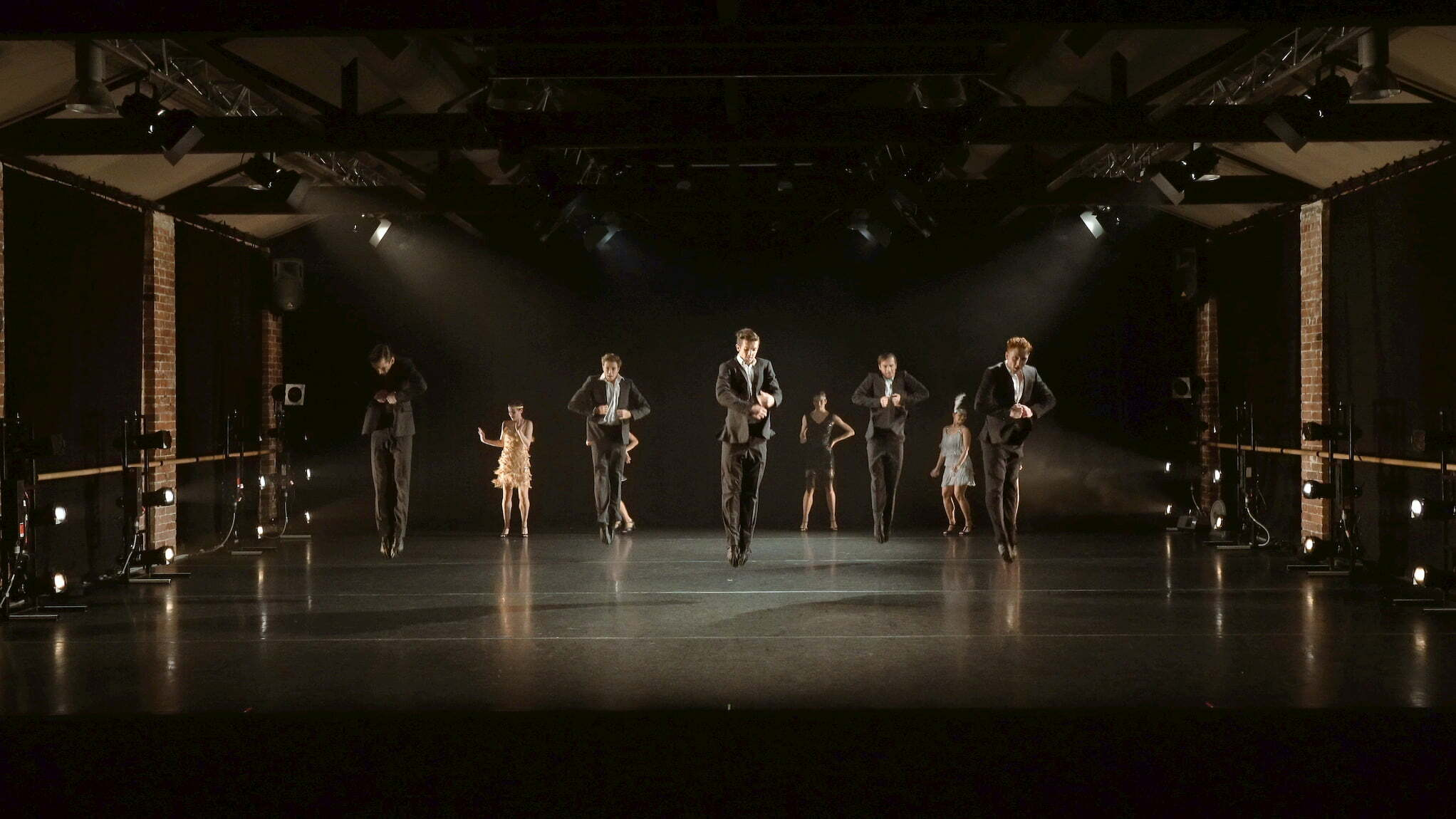 The dancers of West Australian Ballet in Just for Fun (Choreographed by Sandy Delasalle)