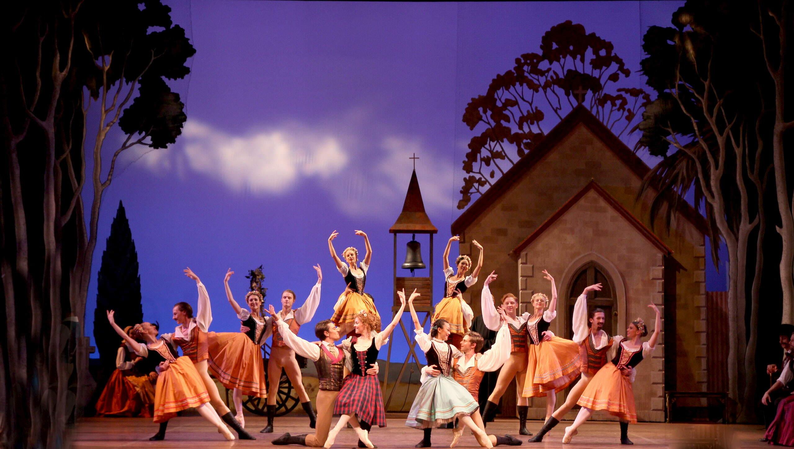 West Australian Ballet dancers in Coppelia. Photo by Emma Fishwick.